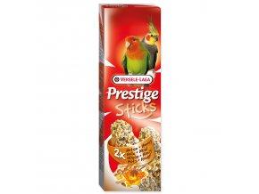 Tyčinky VERSELE-LAGA Prestige ořechy a med pro střední papoušky-140g