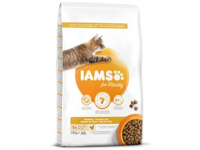 IAMS for Vitality Adult Cat Food Hairball Reduction with Fresh Chicken-10kg
