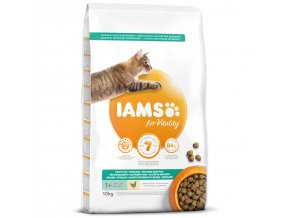 IAMS for Vitality Weight Control Cat Food with Fresh Chicken-10kg