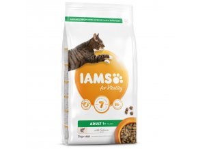 IAMS for Vitality Adult Cat Food with Salmon-2kg