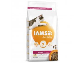 IAMS for Vitality Senior Cat Food with Fresh Chicken-2kg