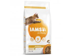 IAMS for Vitality Adult Cat Food Hairball Reduction with Fresh Chicken-2kg
