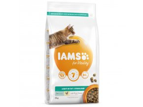 IAMS for Vitality Weight Control Cat Food with Fresh Chicken-2kg