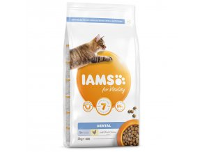 IAMS for Vitality Dental Cat Food with Fresh Chicken-2kg