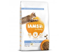 IAMS for Vitality Dental Cat Food with Fresh Chicken-10kg