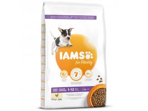 IAMS Dog Puppy Small & Medium Chicken-12kg