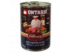 Konzerva ONTARIO Culinary Minestrone Chicken and Pork-400g
