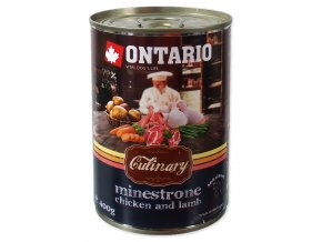 Konzerva ONTARIO Culinary Minestrone Chicken and Lamb-400g