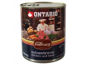 Konzerva ONTARIO Culinary Minestrone Chicken and Lamb-800g