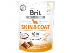 BRIT Care Dog Functional Snack Skin and Coat Krill-150g