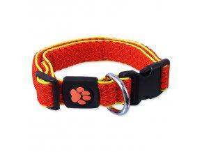 Obojek ACTIV DOG Mellow oranžový M-1ks