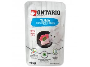 Kapsička ONTARIO Cat Tuna in Broth-80g