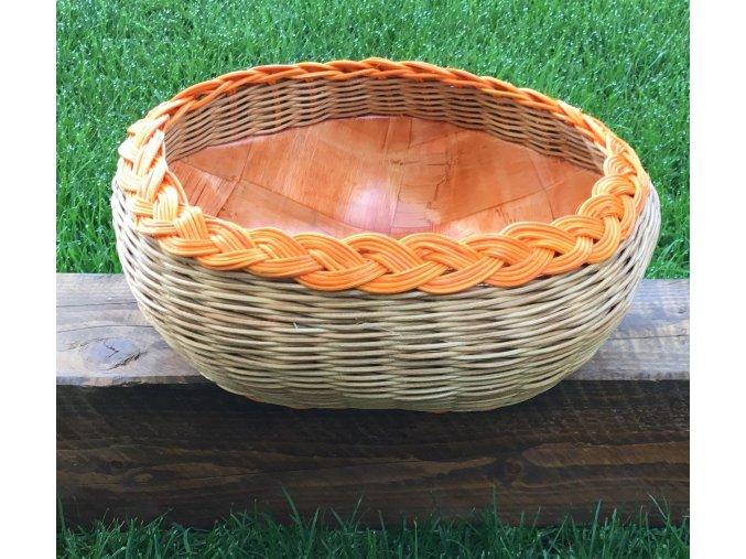 pomarančovo hnedá kombinácia košíka s dvojitou stenou