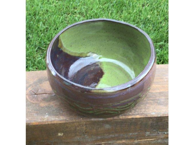 miska zeleno-hnedá