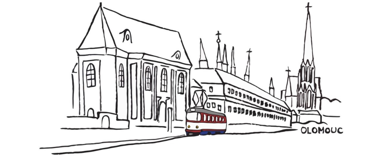 Kresba ikonické tramvaje T3 v Olomouci