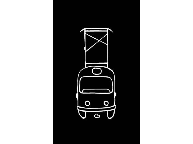Svítící tramvaj náhled