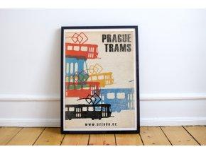 Plakat Prague trams v interieru 2 FB