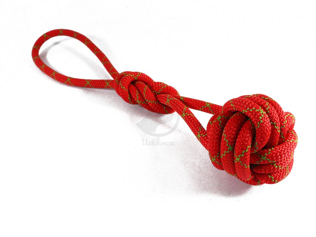 Lanová hračka PŘETAHOVADLO červené  délka cca 45-50 cm