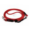 Lanové vodítko 250 cm posuvné EASYLONG M červené  klasické chromované karabiny | pro střední psy do cca 20 kg