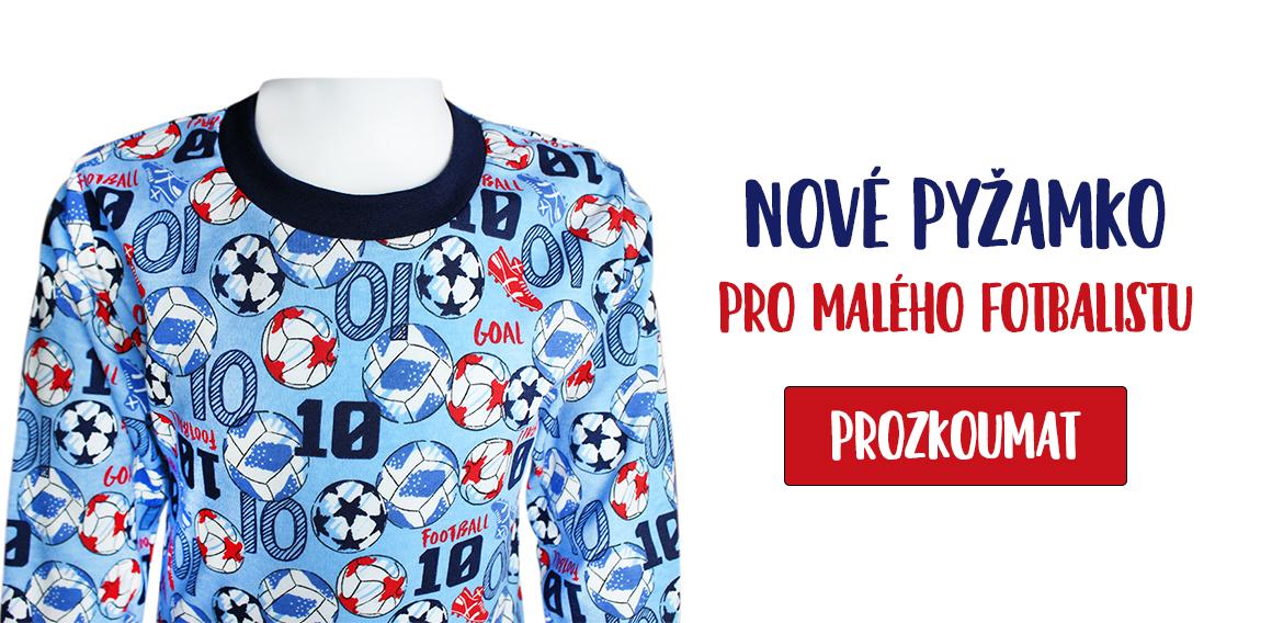 Dětské pyžamo Kopačky a míče