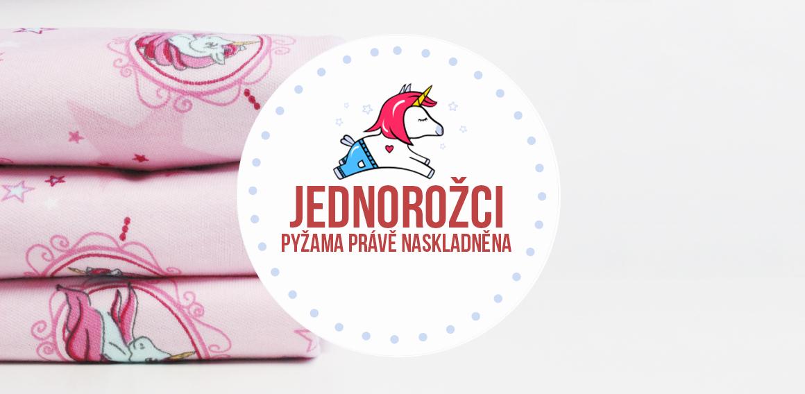 Nové dětské pyžamo s jednorožcem