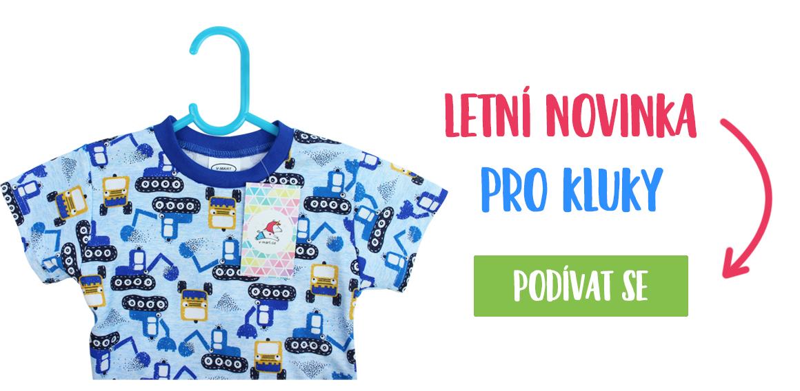 Nové letní pyžamo pro kluky