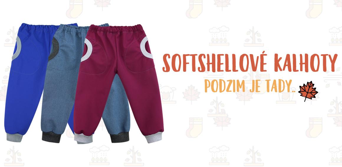 Nové softshellové kalhoty
