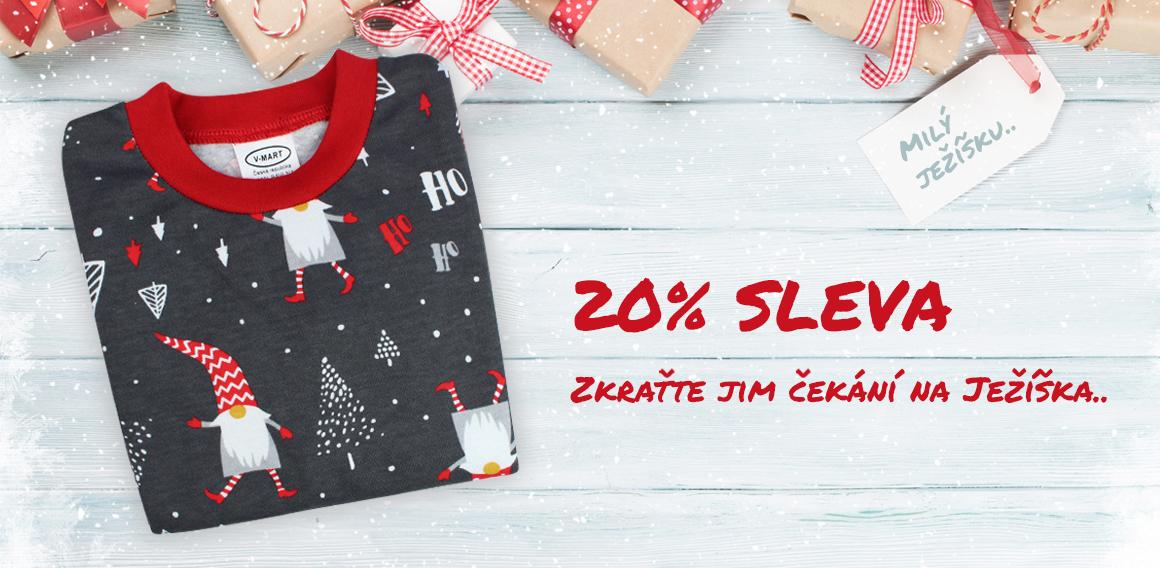 Sleva na vánoční pyžamko