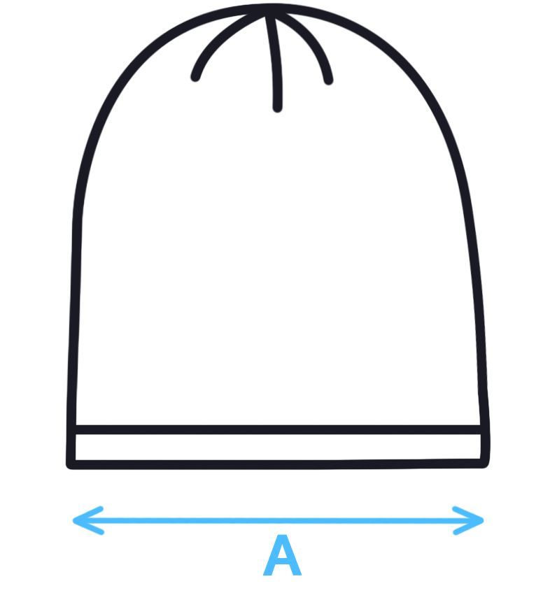 Velikostní tabulka - dětská čepice