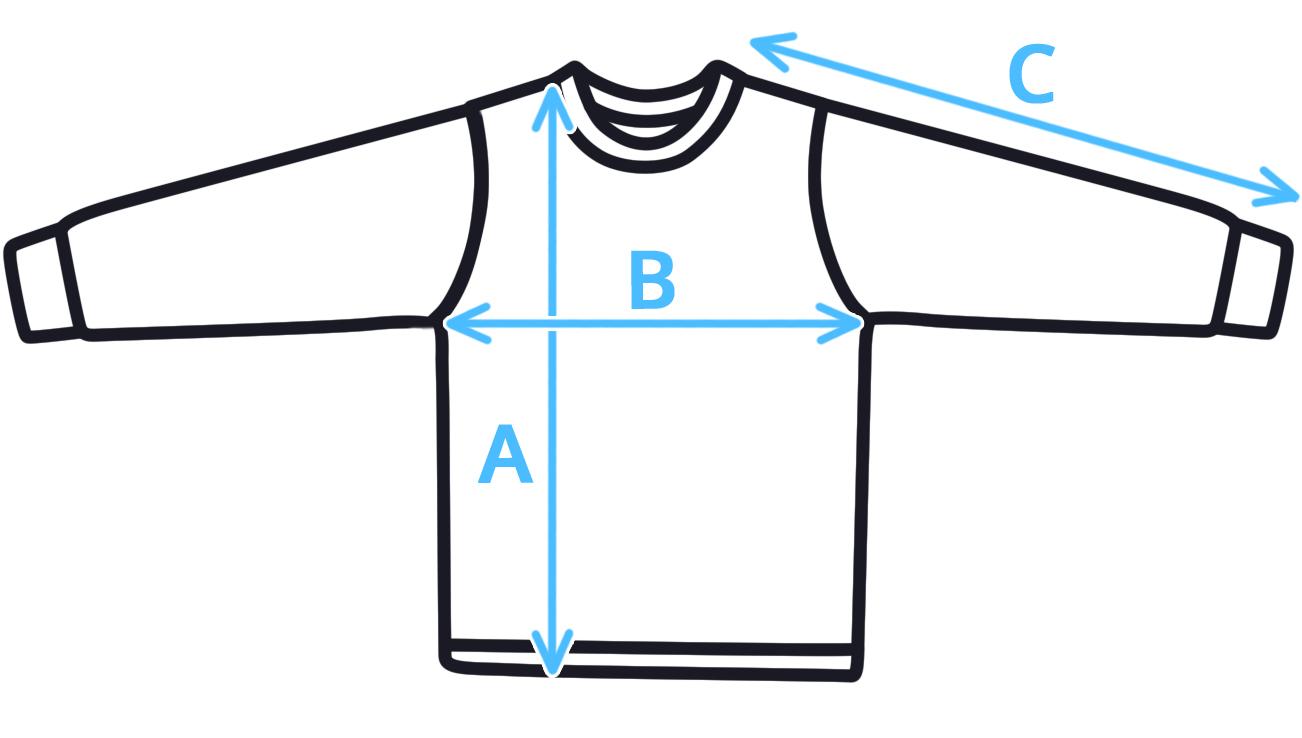 Velikostní tabulka - dětské tričko