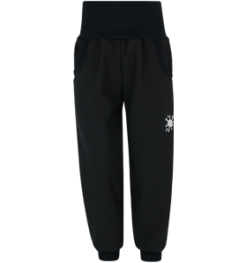 Černé softshellové kalhoty (s fleecem)