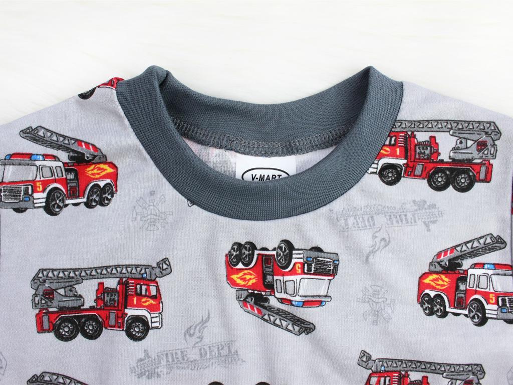 Dětské pyžamo - šedé hasiči