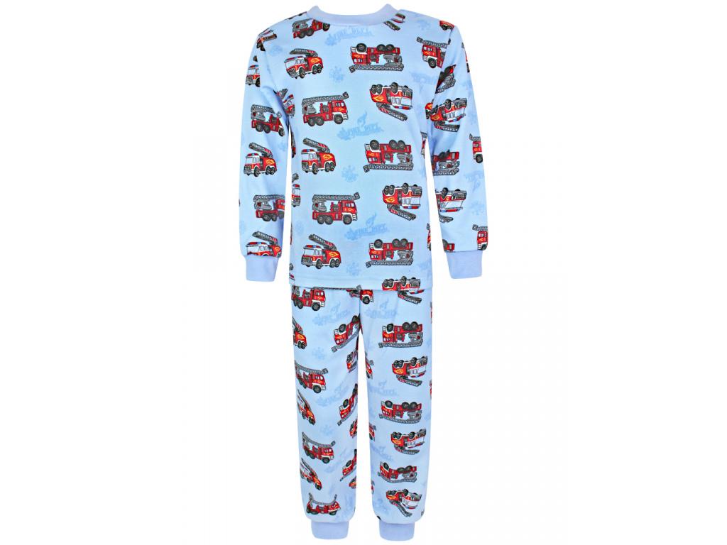Dětské pyžamo hasiči na modré
