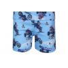 Dětské letní pyžamo s motorkami detail nohavice