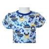 Dětské letní pyžamo bagry detail krku