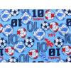 Dětské letní pyžamo fotbal detail látky