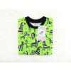 Dětské tričko zebry na zelené detail