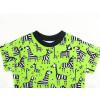 Dětské tričko zebry na zelené detail krku