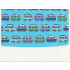 Dětské modré tričko s autobusy detail pasu