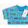 Dětské modré tričko s autobusy detail rukávu