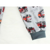 Dětské pyžamo - šedé hasiči - detail krku