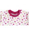 Dětská noční košile s kytičkami - detail krku