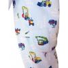 Dětské pyžamo s bagry - detail zadní díl