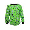 Dětské pyžamo Zelený fotbal - detail horní části