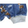 Dětské pumpky srnky na modré - detail nohavice