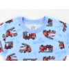 Dětské pyžamo s modrými hasiči - detail
