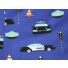 Dětské kraťasy Policie - detail látky