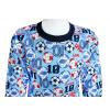 Dětské pyžamo Fotbal, kopačky a míče detail krku