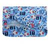 Dětské pyžamo Fotbal, kopačky a míče detail zadního dílu
