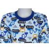 Dětské pyžamo Bagry na stavbě detail krku